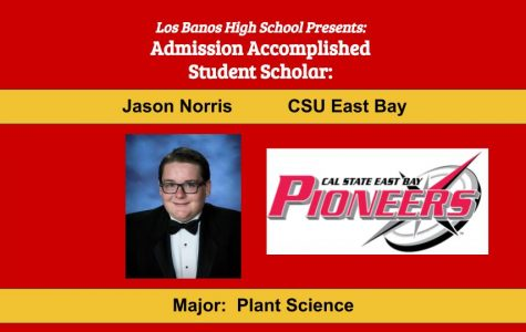Admission Accomplished:  2020 Graduate Jason Norris