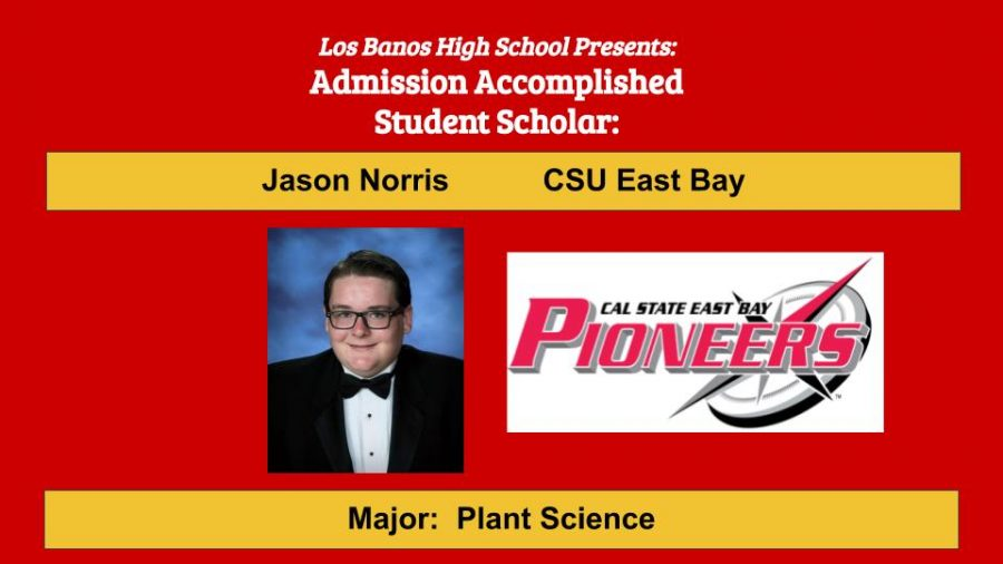 Admission Accomplished:  2020 Graduate Jason Norris