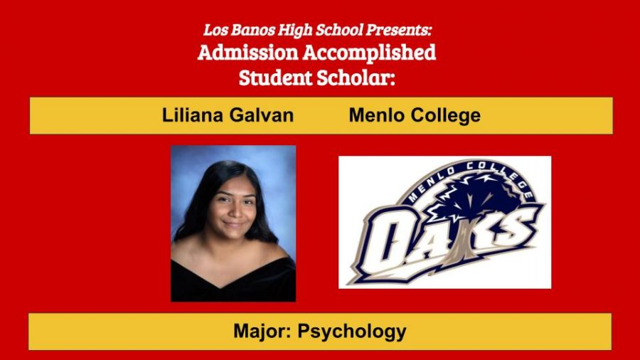 Admission Accomplished:  2020 Graduate Liliana Galvan