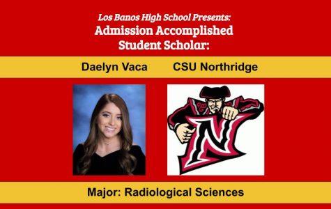 Admission Accomplished:  2020 Graduate Daelyn Vaca