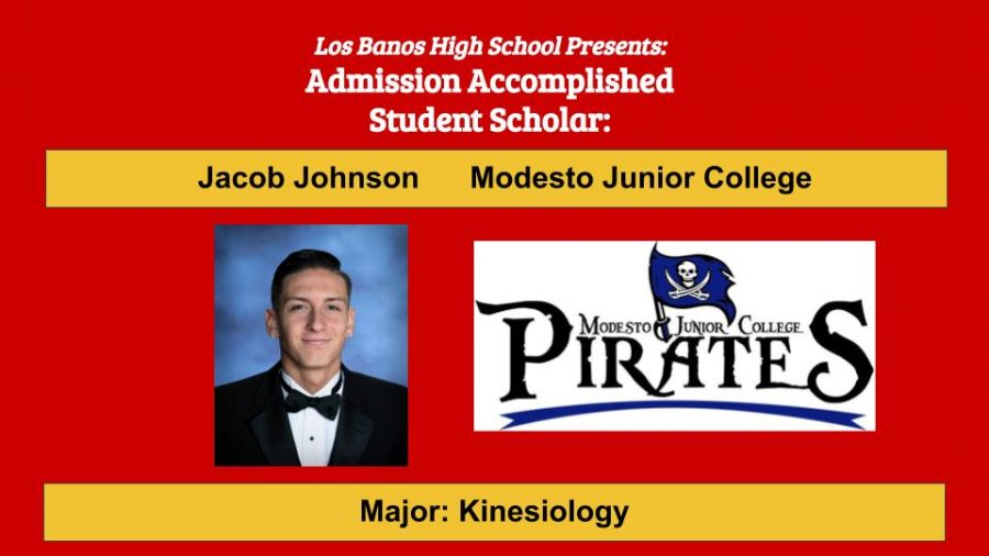 Admission Accomplished:  2020 Graduate Jacob Johnson