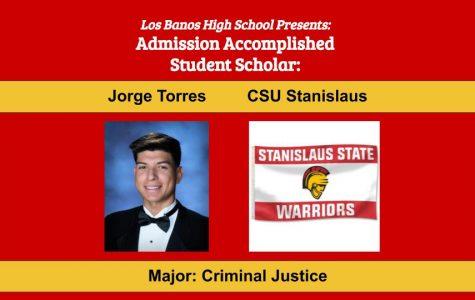 Admission Accomplished:  2020 Graduate Jorge Torres