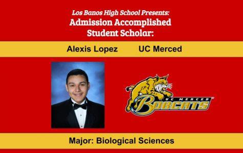Admission Accomplished:  2020 Graduate Alexis Lopez