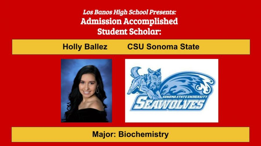 Admission Accomplished:  2020 Graduate Holly Ballez