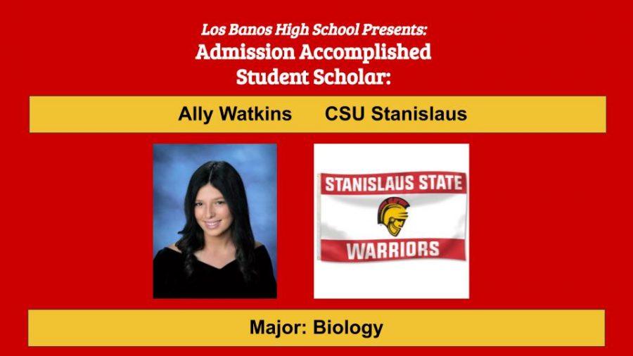 Admission Accomplished:  2020 Graduate Ally Watkins