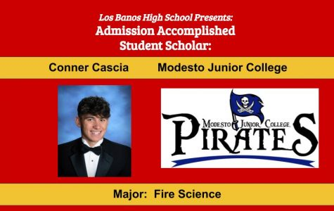 Admission Accomplished:  2020 Graduate Conner Cascia