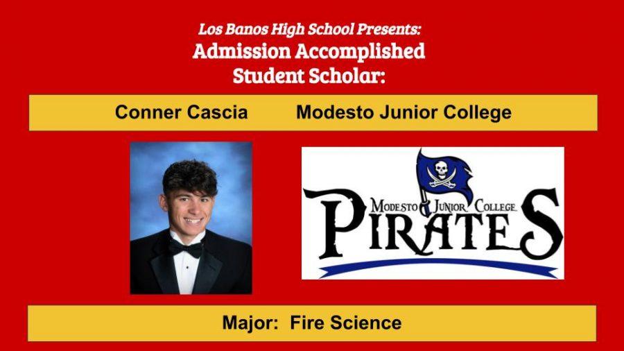 Admission Accomplished:  2020 Graduate Conner Cascia