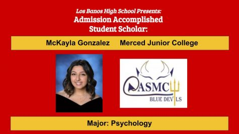 Admission Accomplished:  2020 Graduate McKayla Gonzalez
