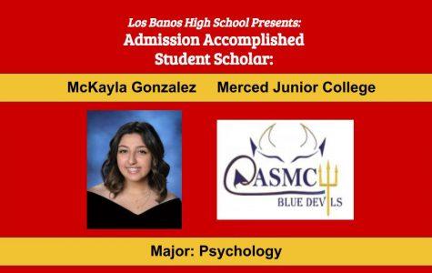 Admission Accomplished:  2020 Graduate McKayla Gonzalez