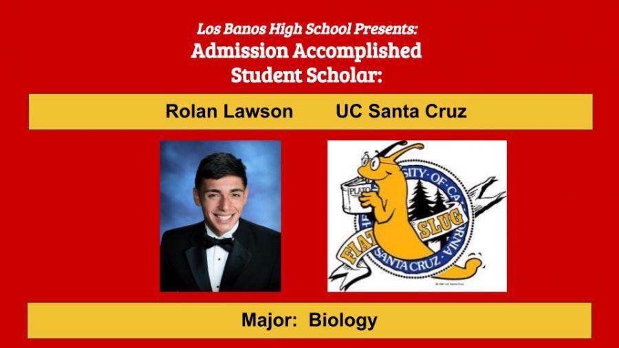 Admission Accomplished:  2020 Graduate Rolan Lawson