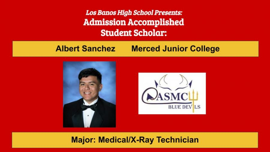Admission Accomplished:  2020 Graduate Albert Sanchez