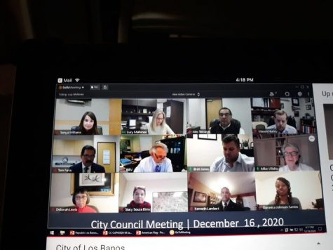 Mr. Faria holds his first meeting as mayor on a zoom call.