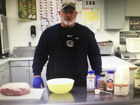 Mr. McCullough created his own cooking show to help his classes learn about cooking techniques.