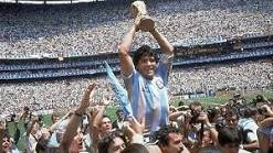 Maradona holding world cup