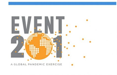 Official logo for Event 201, held on October 18, 2019