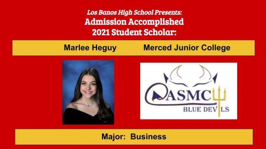 Admission Accomplished:  Marlee Heguy