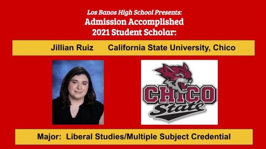 Admission Accomplished:  Jillian Ruiz