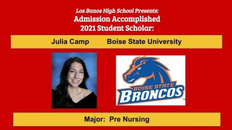 Admission Accomplished:  Julia Camp
