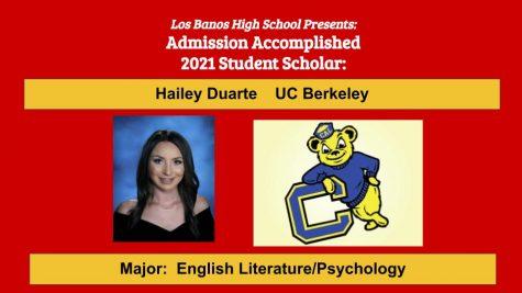 Admission Accomplished:  Hailey Duarte