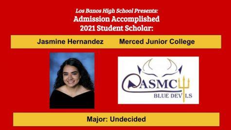Admission Accomplished:  Jasmine Hernandez
