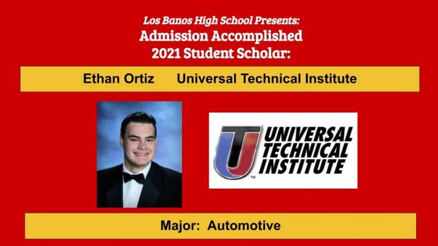 Admission Accomplished:  Ethan Ortiz