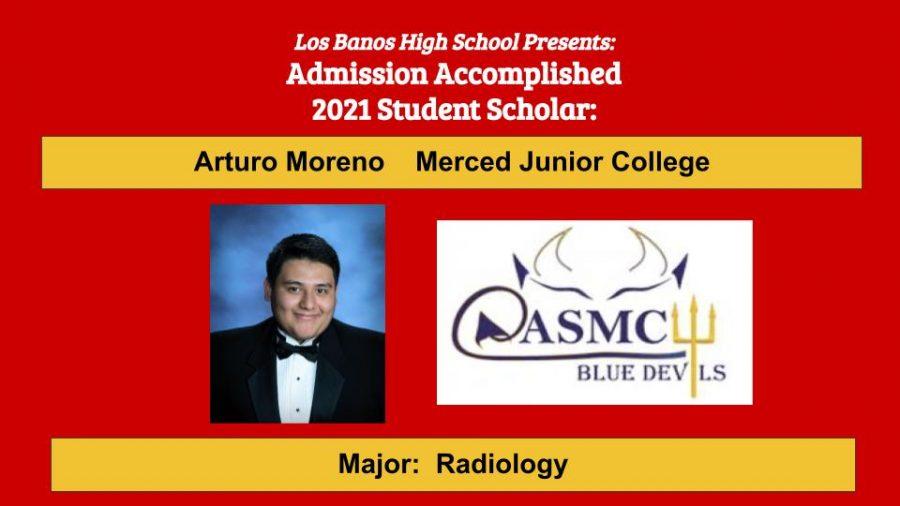Admission Accomplished:  Arturo Moreno