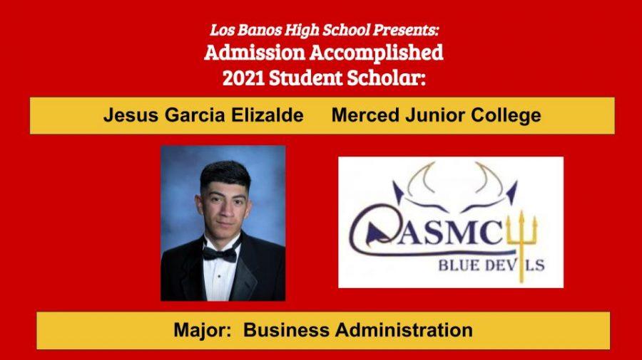 Admission Accomplished:  Jesus Garcia Elizalde