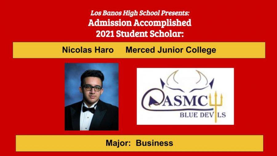 Admission Accomplished:  Nicolas Haro